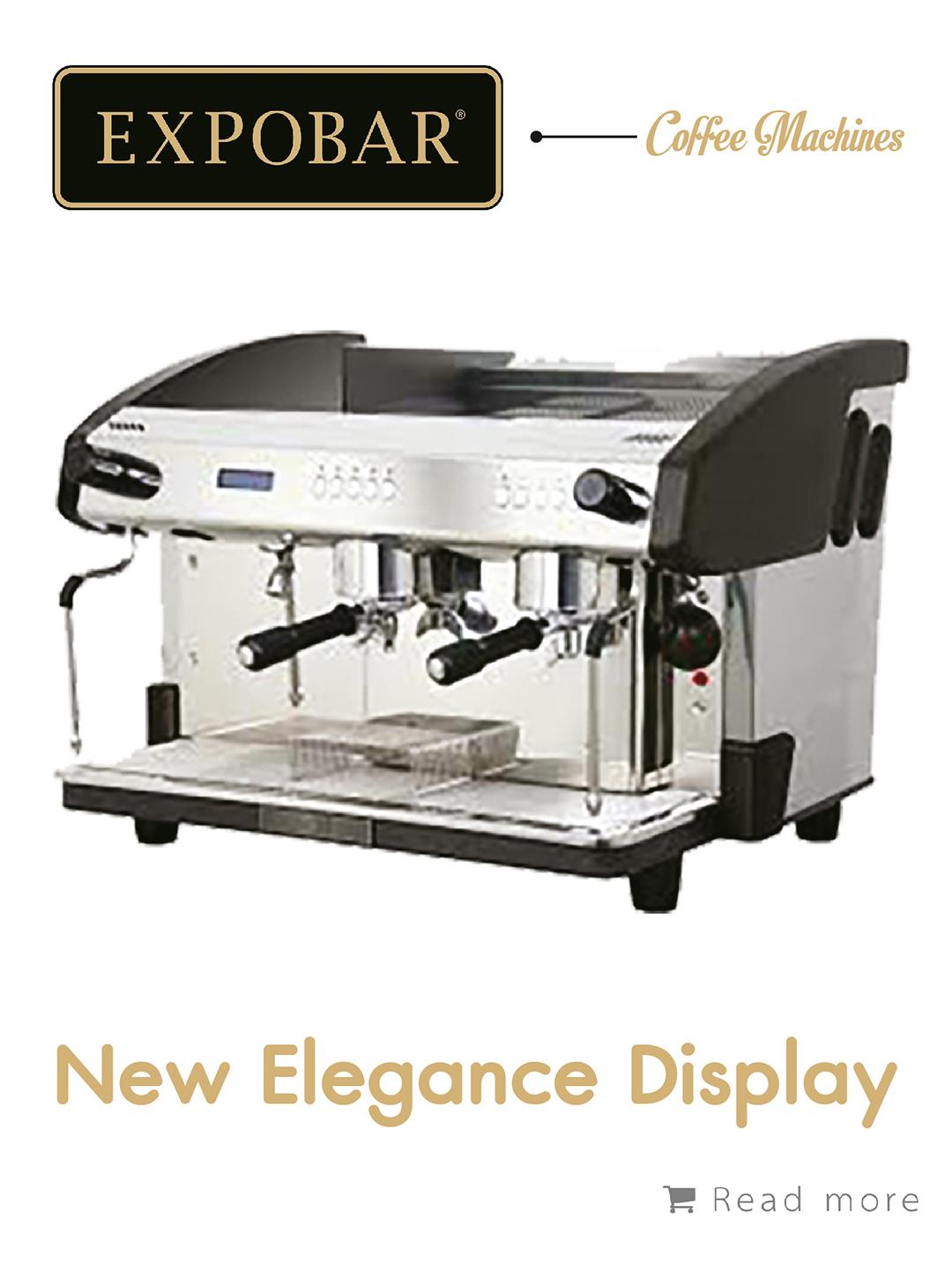เครื่องชงกาแฟ Expobar New Elegance Display 2g,เครื่องชงกาแฟ, เรียนชงกาแฟ, สอนชงกาแฟ, อุปกรณ์ร้านกาแฟ, กาแฟคั่ว, ซ่อมเครื่องชงกาแฟ, ขายเครื่องชงกาแฟ, จำหน่ายเมล็ดกาแฟคั่ว, ขายเมล็ดกาแฟคั่ว, จำหน่ายเมล็ดกาแฟสาร, ขายเมล็ดกาแฟสาร, เมล็ดกาแฟคั่ว, เมล็ดกาแฟสาร, อุปกรณ์สำหรับเปิดร้านกาแฟ , เปิดสอนฝึกอบรมการชงกาแฟที่ถูกต้อง , รับจ้างโปรเซสกาแฟ, คั่วกาแฟด้วยเครื่องจักรอันทันสมัย