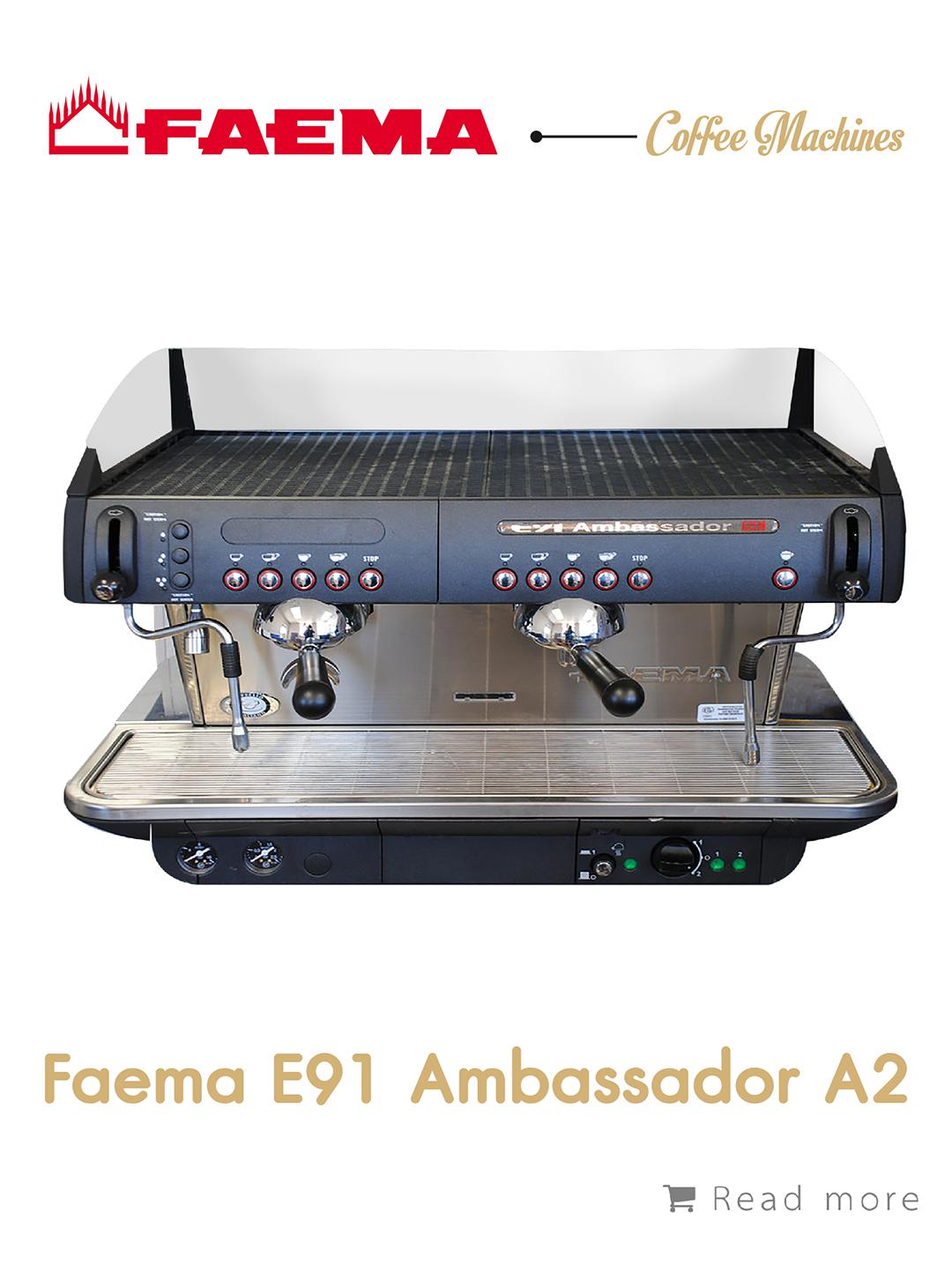 เครื่องชงกาแฟ Faema E91 Ambassador A2,เครื่องชงกาแฟ, เรียนชงกาแฟ, สอนชงกาแฟ, อุปกรณ์ร้านกาแฟ, กาแฟคั่ว, ซ่อมเครื่องชงกาแฟ, ขายเครื่องชงกาแฟ, จำหน่ายเมล็ดกาแฟคั่ว, ขายเมล็ดกาแฟคั่ว, จำหน่ายเมล็ดกาแฟสาร, ขายเมล็ดกาแฟสาร, เมล็ดกาแฟคั่ว, เมล็ดกาแฟสาร, อุปกรณ์สำหรับเปิดร้านกาแฟ , เปิดสอนฝึกอบรมการชงกาแฟที่ถูกต้อง , รับจ้างโปรเซสกาแฟ, คั่วกาแฟด้วยเครื่องจักรอันทันสมัย
