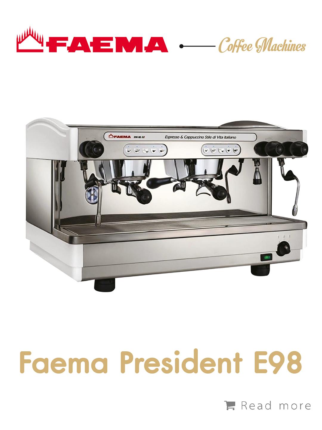 เครื่องชงกาแฟ Faema President E98,เครื่องชงกาแฟ, เรียนชงกาแฟ, สอนชงกาแฟ, อุปกรณ์ร้านกาแฟ, กาแฟคั่ว, ซ่อมเครื่องชงกาแฟ, ขายเครื่องชงกาแฟ, จำหน่ายเมล็ดกาแฟคั่ว, ขายเมล็ดกาแฟคั่ว, จำหน่ายเมล็ดกาแฟสาร, ขายเมล็ดกาแฟสาร, เมล็ดกาแฟคั่ว, เมล็ดกาแฟสาร, อุปกรณ์สำหรับเปิดร้านกาแฟ , เปิดสอนฝึกอบรมการชงกาแฟที่ถูกต้อง , รับจ้างโปรเซสกาแฟ, คั่วกาแฟด้วยเครื่องจักรอันทันสมัย